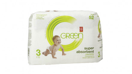 Pack of President's Choice Green Super Absorbent Diapers