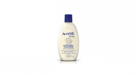 Bottle of Aveeno Baby Soothing Relief Creamy Wash