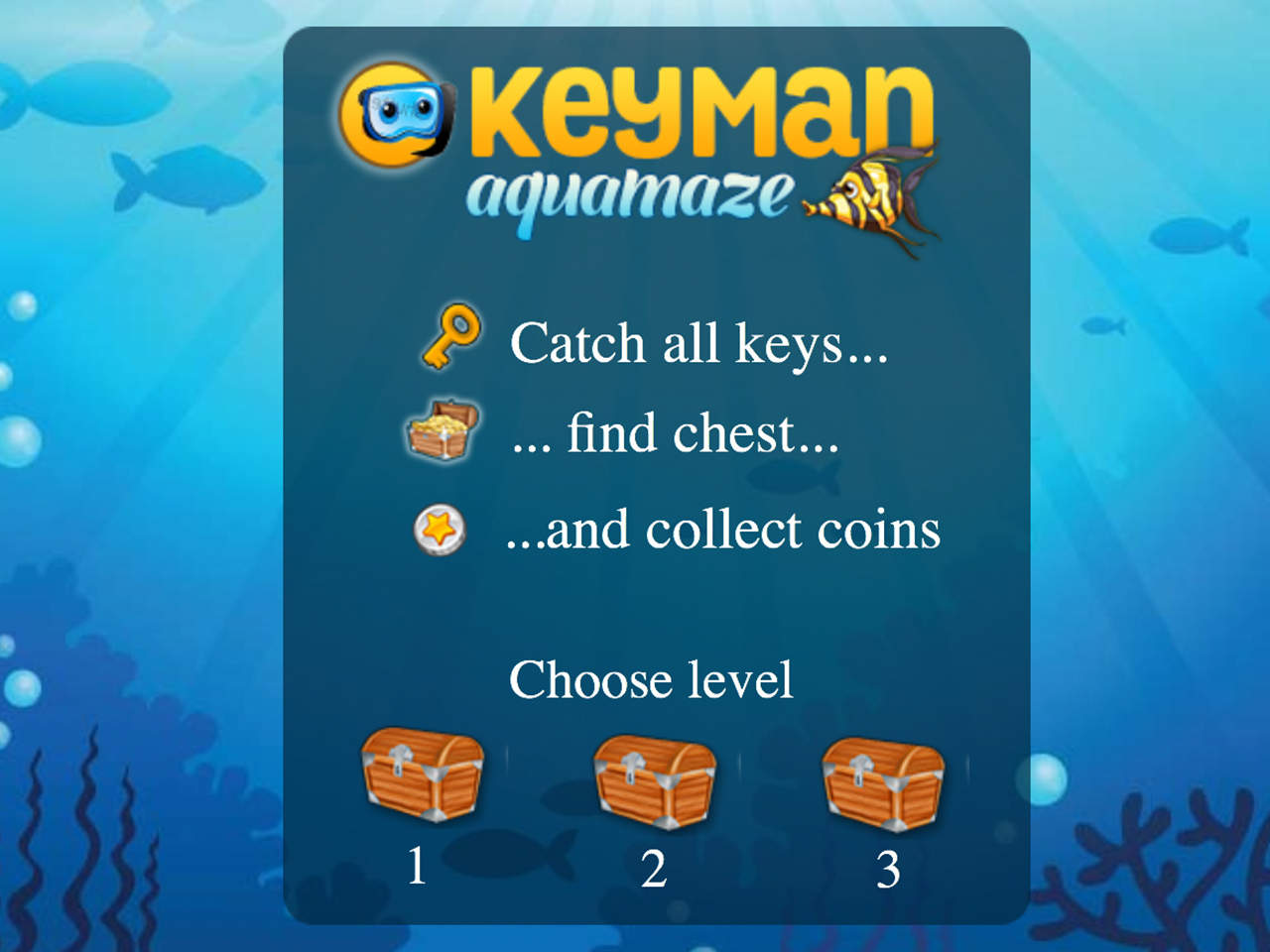 A still from the typing game for kids KeyMan