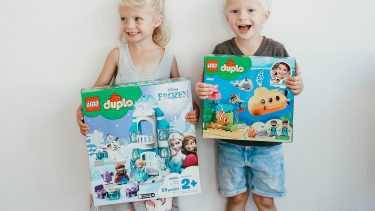 Michele Philip's kids develop sibling bonding in real time playing with LEGO Duplo sets